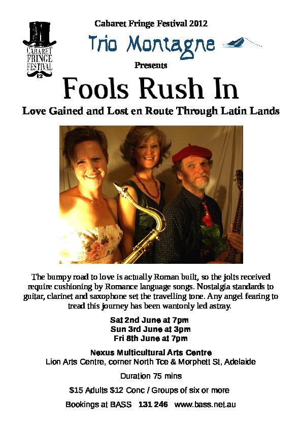 Fools rush in flier